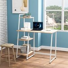 Computer Desk With 4 Tier Storage Shelves Desk