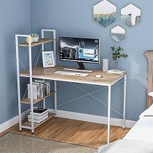 Computer Desk with 4 Tier Storage Shelves Study