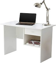 Computer Desk with Drawer and Open Storage Space -