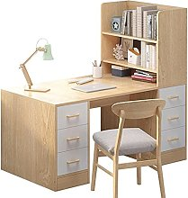 Computer Desk with Drawers And Hutch Modern Wood
