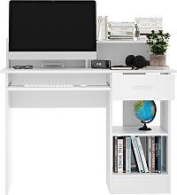 Computer Desk with Drawers Storage Shelf Keyboard