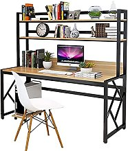 Computer Desk with Hutch And Bookshelf Space