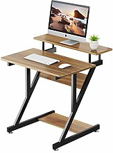 Computer Desk with Monitor Shelf - Z Shaped Home