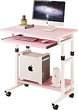 Computer Desk with Roller, Mobile Stand Computer