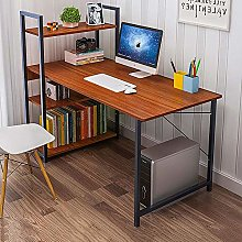 Computer Desk With Shelves Office Bookshelf Corner