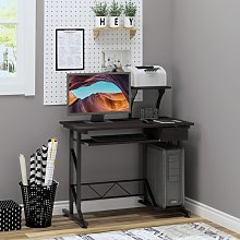Computer Desk with Sliding Keyboard Tray Drawer