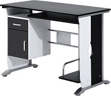 Computer Desk with Sliding Keyboard Tray Storage