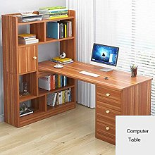 Computer Desk with Storage Shelves,Home Office