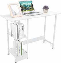Computer Desk with Storage Shelves, White Home