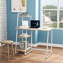 Computer Desk Wooden Office Desk with 4 Tier