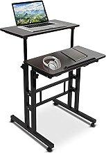 Computer Desk,Wooden Stand Up Laptop Desk PC