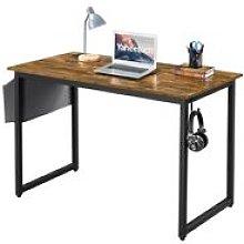 Computer Desk, Writing Desk with Steel Frame, Home