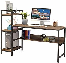 Computer Desk, Writing Desk with Storage Shelves,