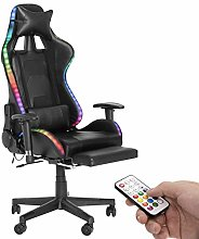 Computer Gaming Chair with LED Light,High Back