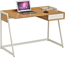 Computer Laptop & Writing Desk with Drawer in Oak