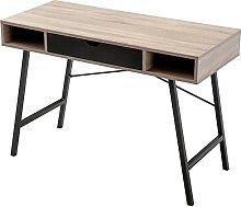 Computer Table with Drawer, X-Shape Metal Frame
