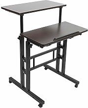 Computer Table,Wooden Stand Up Laptop Desk PC