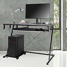 Computer Workstation,Z-Shaped Computer Desk Laptop