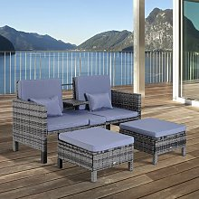 Comstock 2 Seater Rattan Sofa Set Sol 72 Outdoor