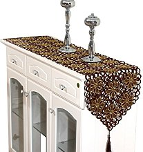 COMVIP Hollow Out Floral Table Runner Dining