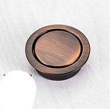Concealed Dark Handle Hidden Form Drawer Round