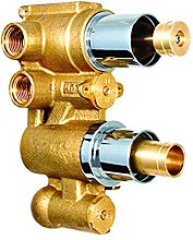 Concealed Dual Thermostatic Shower Mixer Valve,