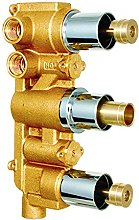 Concealed Triple Thermostatic Shower Mixer Valve,