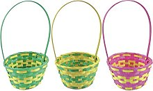 CONCEPT4U® 3 Bright Color Easter Egg Hunt Wicker