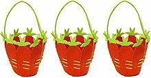 CONCEPT4U® 3 x Fabric Carrot Easter Egg Treasure