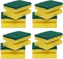 CONCEPT4U® 8 in Pack Sponge Scourers Yellow