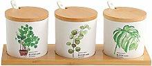 Condiment bottles CHL Spice Container Rack Ceramic