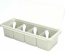 Condiment Holder 4 Compartments Seasoning Box