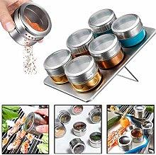 Condiment Jars Magnetic Spice Jar Tin Storage