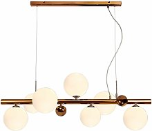 Conetti design pendant light 7 bulbs antique