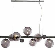 Conetti design pendant light 7 bulbs polished