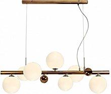 Conetti Pendant Light with 7 Antique Copper Bulbs