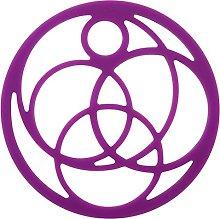 Confetti Trivet Round Purple