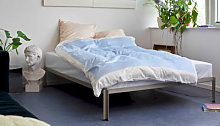 Connect Bed frame - / Metal - 140 x 200 cm by Hay
