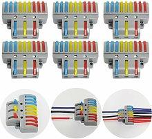Connection Terminals, 6 Pcs Electrical Connector