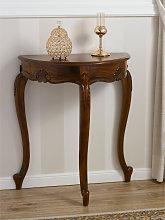Console table Arlette half moon Italian Baroque