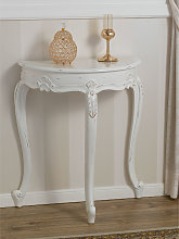 Console table Arlette half moon Shabby Chic style