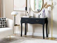 Console Table Black Manufactured Wood 2 Drawers Hallway Furniture 90 cm Vintage Design