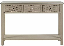 Console Table Console Table 3 Drawers Stone Linen