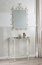 Console Table with Mirror Hawaii Wrought Iron