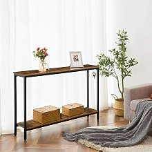 Console Table with Storage Shelf, 120 cm Sofa