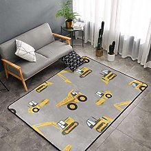 Construction Trucks Area Rug, Bedroom Living Room