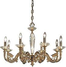 CONTARINI classic chandelier in antique brass 8
