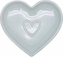 Contemporary Ceramic Country Heart Storage Set -
