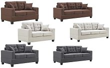 Contemporary Chelsea Sofa: Grey/Three-Seater