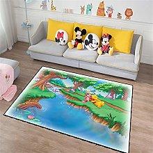Contemporary Designer Rug Cartoon Winnie The Pooh